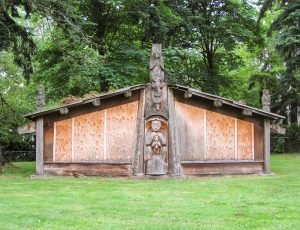Replica of Northwest Indian Haida House