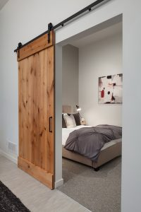 Select Carter units are equipped with our unique sliding barn doors: they save space and add a little pizzazz to each unit!