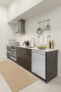 The Carter's kitchens are a master-chef's dream! With state-of-the-art appliances, french-door refrigerators, and unique subway tile you'll feel like a professional no matter what you're cooking!