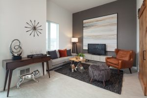This Urban One Bedroom unit is 600 square feet and offers a luxurious living area!