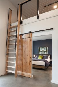 Select Live Work Units have extensive storage on an additional mezzanine level, as well as our unique sliding barn doors!