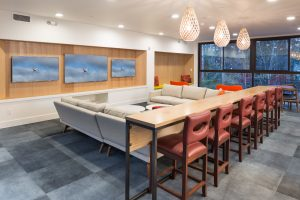 Enjoy the company of your friends and family in The Nest, our incredible community lounge! There are three flat-screen TVs to catch all of your favorite football teams, or indulge all of your Prime Time shows!
