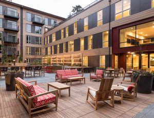 Take in the outdoors by lounging in our interior courtyard!