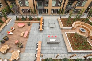 The Heartwood is ready for your spring-time cook-out! Residents can enjoy a communal barbecue, a concrete ping-pong table, and a large fire-pit with their neighbors!
