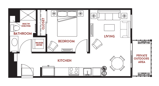 Unit - 245 Floorplan