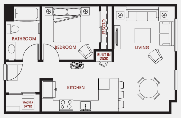 Unit - 233 Floorplan