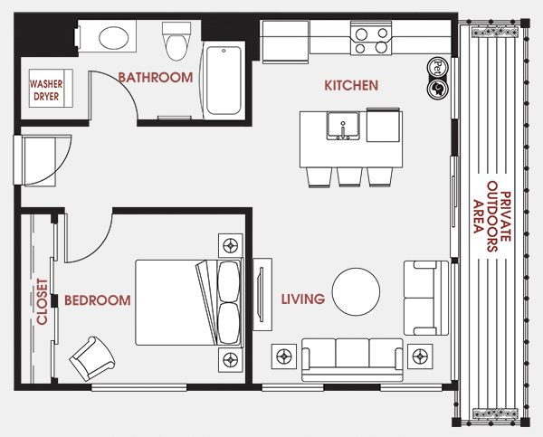 Unit - 627 Floorplan
