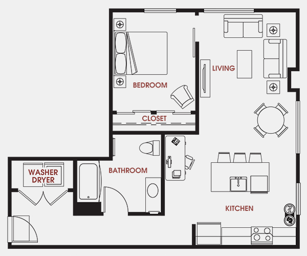 Unit - 547 Floorplan