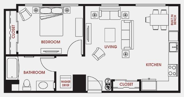 Unit - 204 Floorplan
