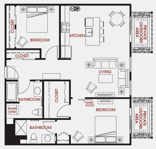 Unit - 445 Floorplan