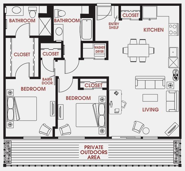 Unit - 655 Floorplan