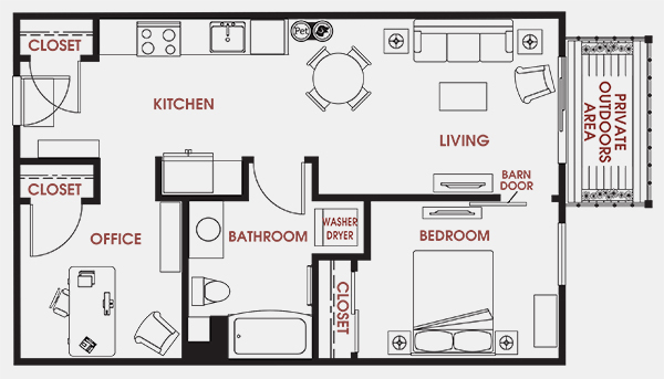 Unit - 219 Floorplan