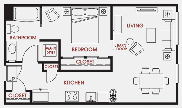 Unit - 205 Floorplan