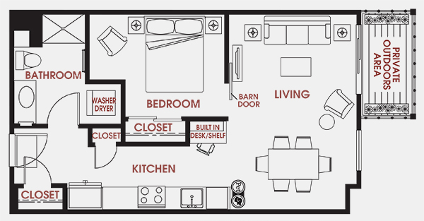 Unit - 513 Floorplan