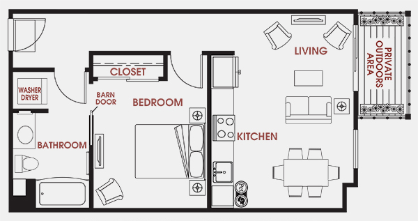 Unit - 503 Floorplan