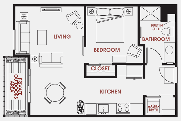 Unit - 619 Floorplan