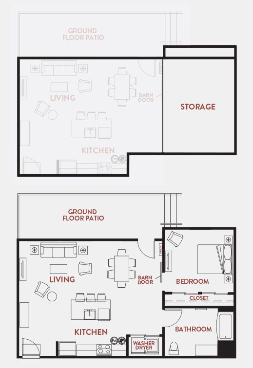 Unit - 107 Floorplan