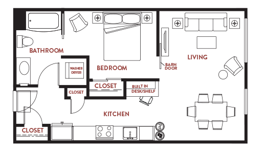 Unit - 213 Floorplan