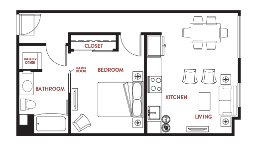 Unit - 457 Floorplan