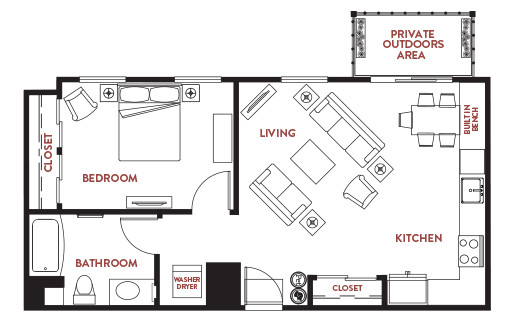 Unit - 608 Floorplan