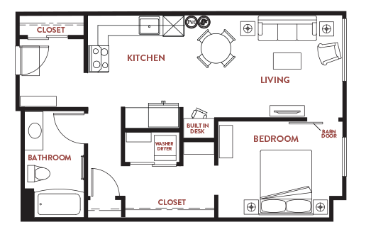 Unit - 223 Floorplan