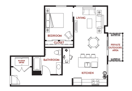 Unit - 447 Floorplan