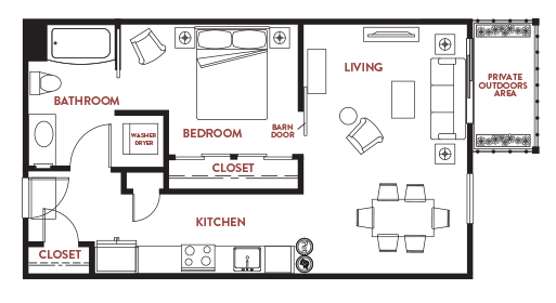 Unit - 207 Floorplan
