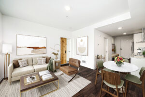 Example living space at The Carter